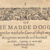"Spackman, Thomas – ""Of The Madde Dogge…"" (1613)"